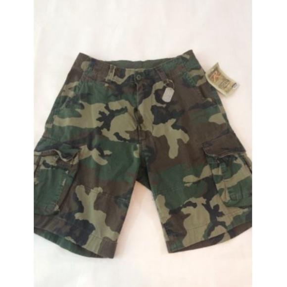 Cargo Shorts Vintage Camo Infantry Utility Military  Rothco